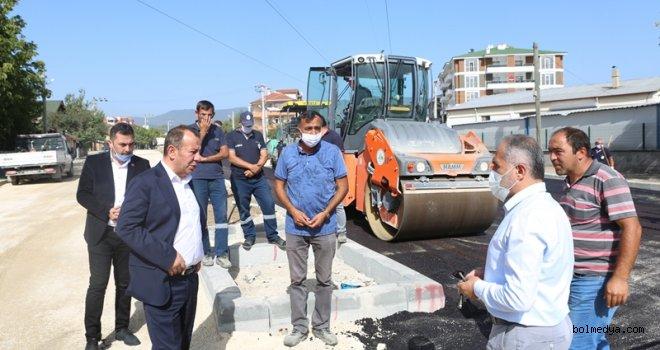 Başkan Özcan, Asfalt Çalışmalarını Yerinde İnceledi
