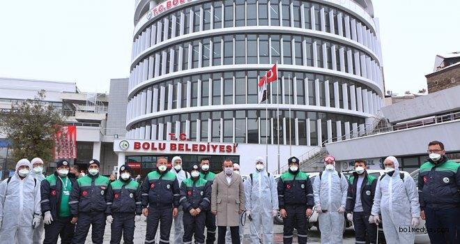 Bolu Belediyesi Hijyen Timi Kurdu
