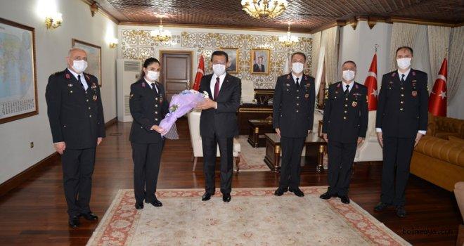 Jandarma Teşkilatından Vali Ümit'e Kuruluş Yıldönümü Ziyareti