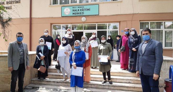 Maske Diken Kursiyerlere Teşekkür Belgesi Verildi